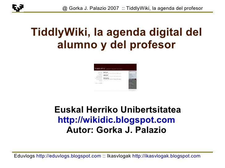 Tiddlywiki Es 2
