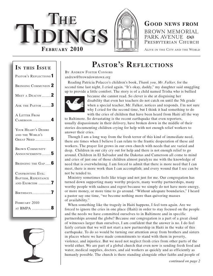 Tidings Feb10