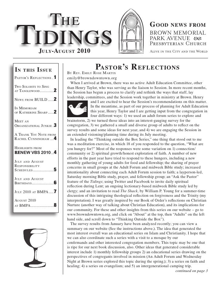 Tidings Jul Aug10