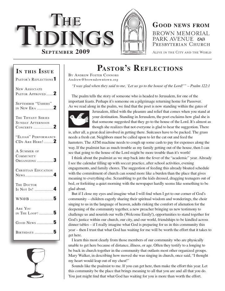 The Tidings                                                                                          G ood         news fr...
