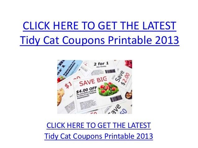 Tidy Cat Coupons Printable 2013 - Tidy Cat Coupons Printable 2013