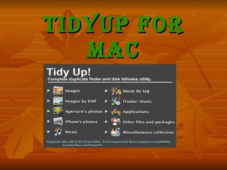 TidyUp For Mac