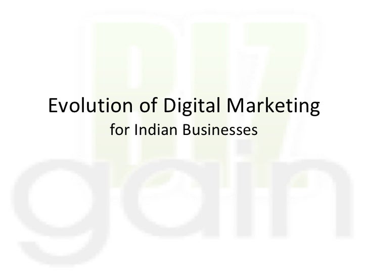 Evolution of Digital Marketing for Indian Businesses