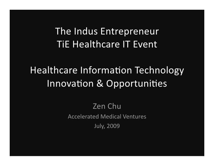 TiE Healthcare Technology Innovation Zen Chu
