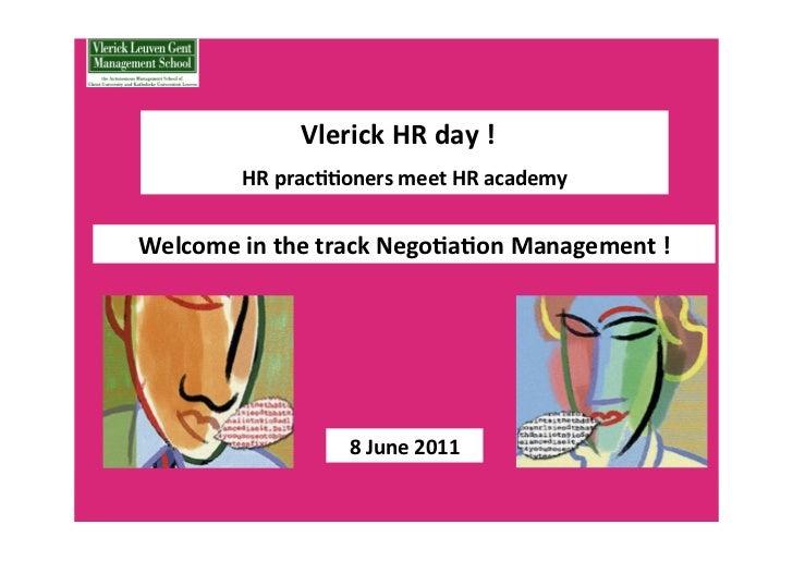Negotiation Management: Katia Tielemans
