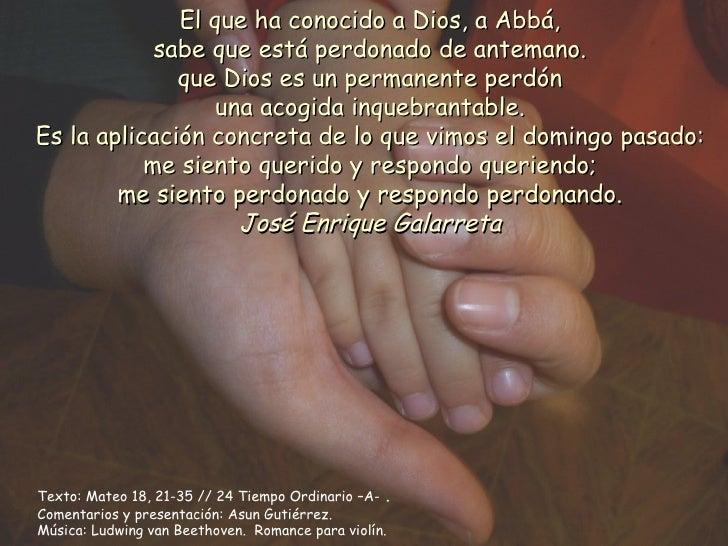 Tiempo ordinario 24a  Parábola del perdón 11-9-11