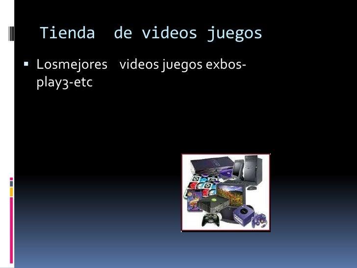 Tienda     de videos juegos Losmejores videos juegos exbos- play3-etc