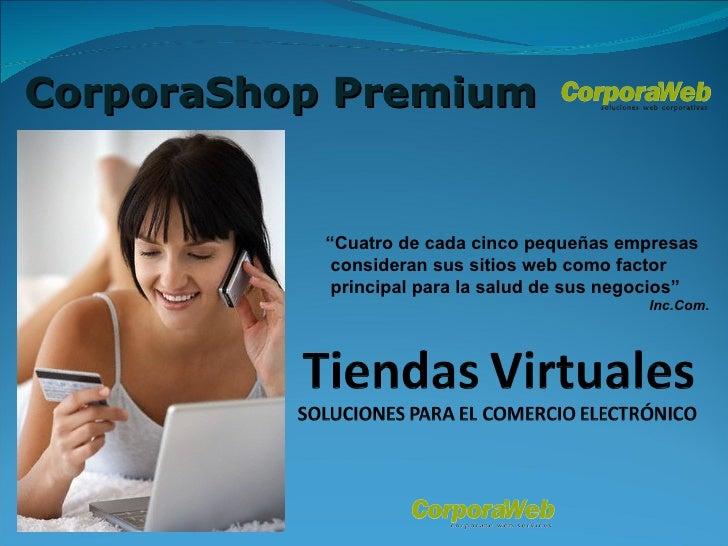 Tiendas Virtuales Corpora Shop Premium - Comercio Electrónico para PYMEs