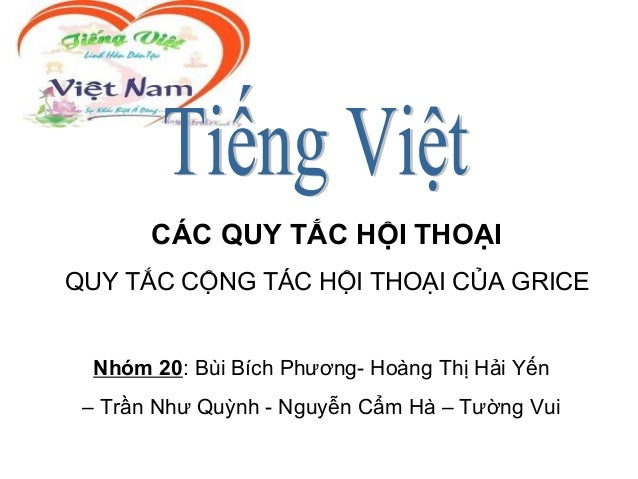 Cac phuong cham hoi thoai - Tieng Viet