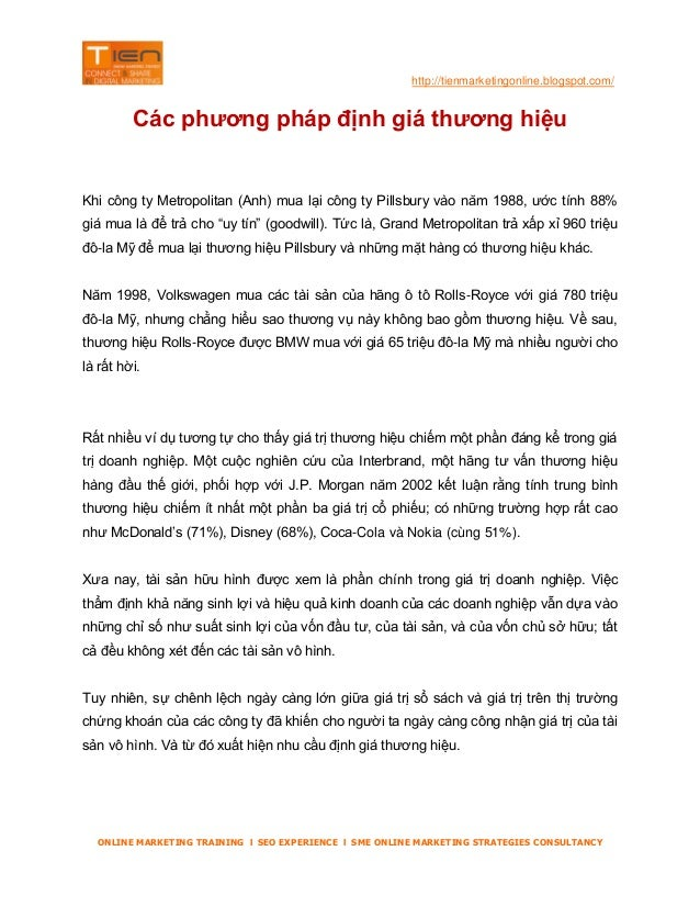 Tienmarketingonline.blospot.com phuong phap dinh gia thuong hieu