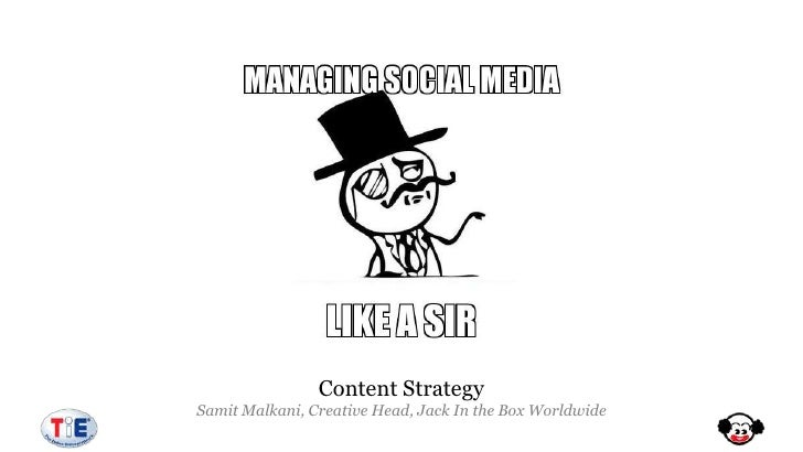 Content StrategySamit Malkani, Creative Head, Jack In the Box Worldwide