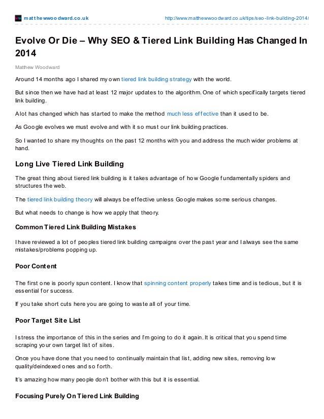 See why SEO and Tiered Link Building Changed in 2014