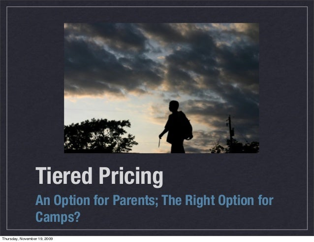 Tiered Pricing in Summer Camp Programs