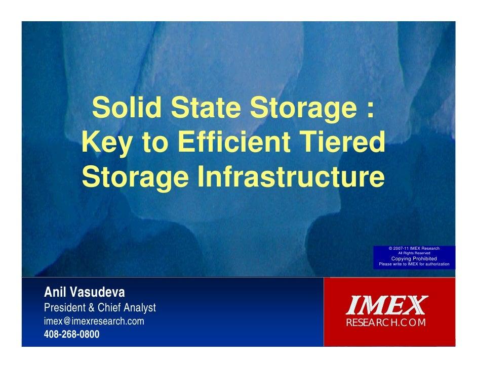 Key to Efficient Tiered  Storage Infrastructure