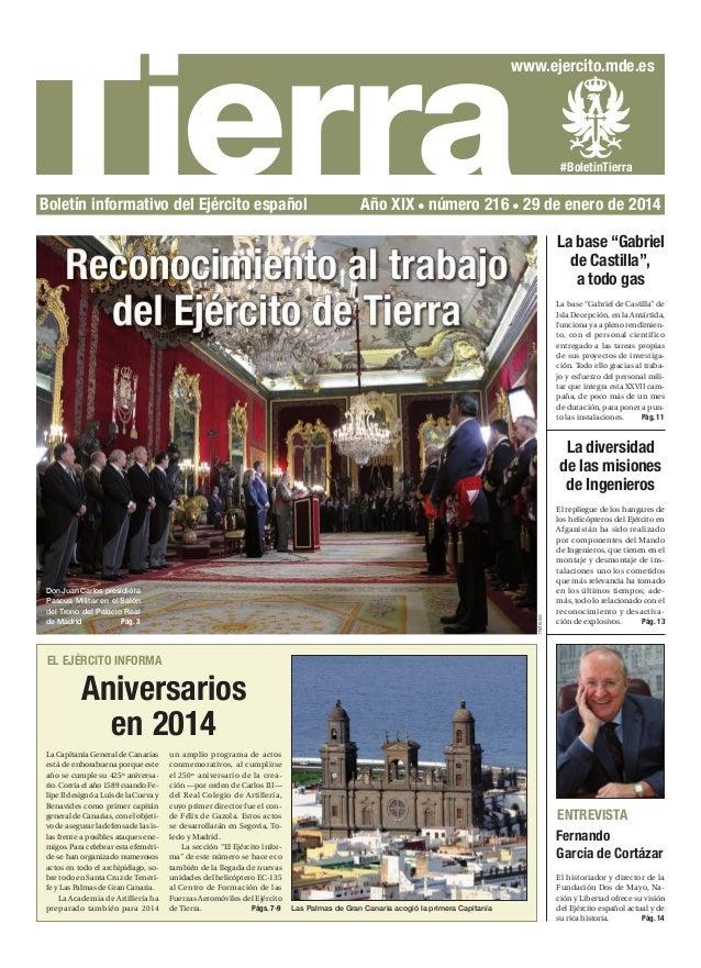 Tierra  www.ejercito.mde.es  Boletín informativo del Ejército español  #BoletínTierra  Año XIX número 216 29 de enero de 2...