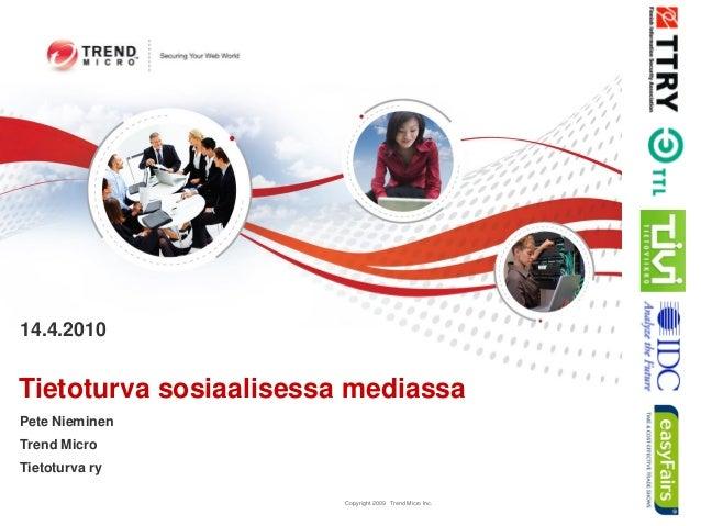 Tietoturva sosiaalisessa mediassa