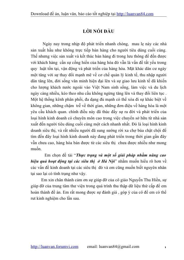 Download đề án, luận văn, báo cáo tốt nghiệp tại http://luanvan84.com                             LỜI NÓI ĐẦU        Ngày ...