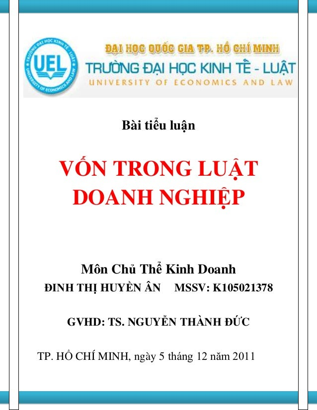 Tieu luan chu the kinh doanh