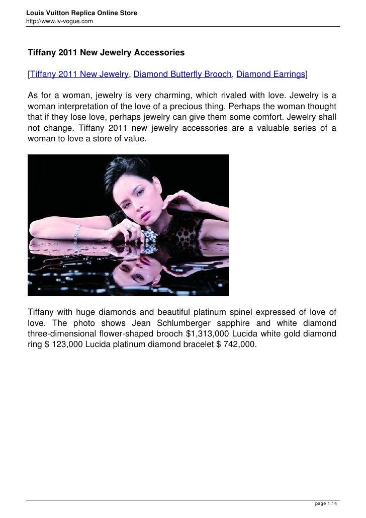 Louis Vuitton Replica Online Storehttp://www.lv-vogue.comTiffany 2011 New Jewelry Accessories[Tiffany 2011 New Jewelry, Di...
