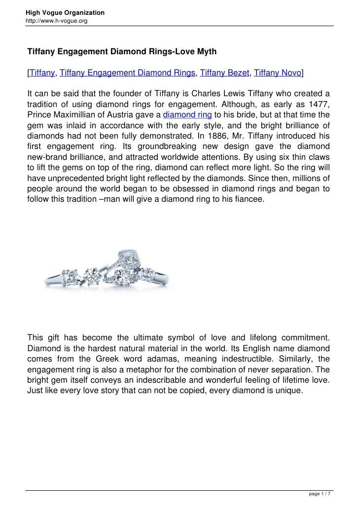 High Vogue Organizationhttp://www.h-vogue.orgTiffany Engagement Diamond Rings-Love Myth[Tiffany, Tiffany Engagement Diamon...
