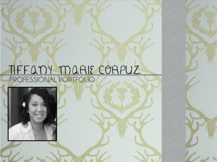 Tiffany Marie Corpuz Portfolio