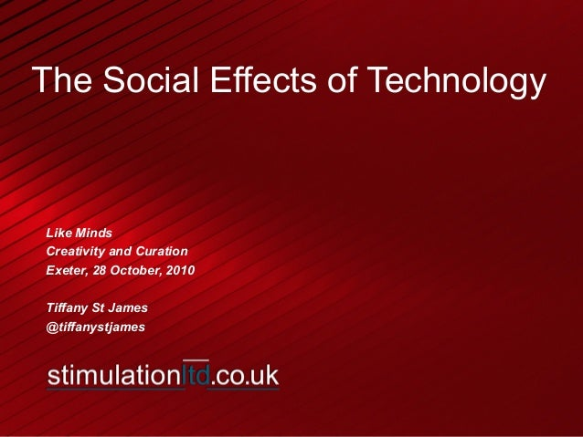 Tiffany St James: The Social Impact of Technology