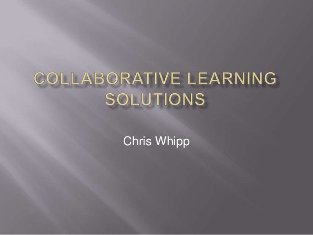 Problem Solving with Chris Whipp. Presentation to The Inspired Group