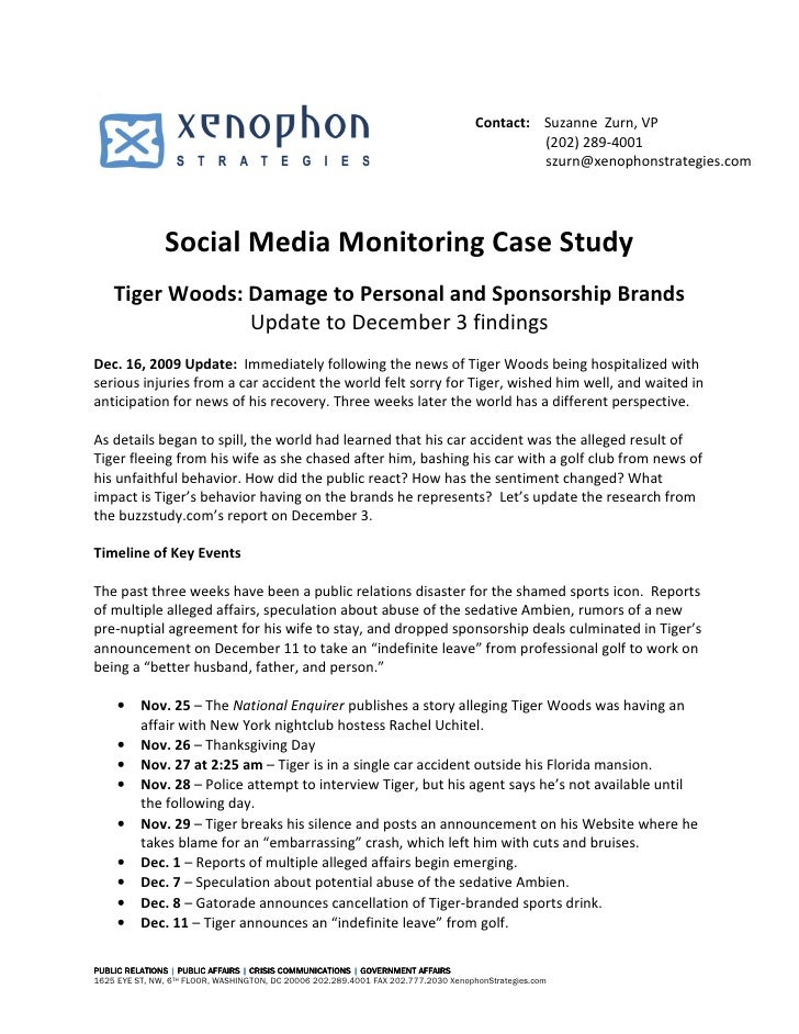 Tiger  Woods  Social  Media  Case  Study