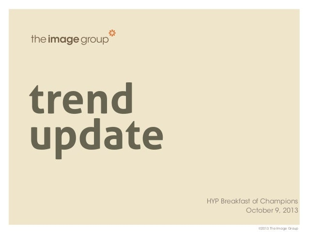 Holland Young Professionals - Trend Update: Oct 2013