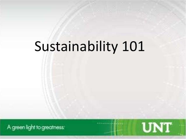Sustainability 101