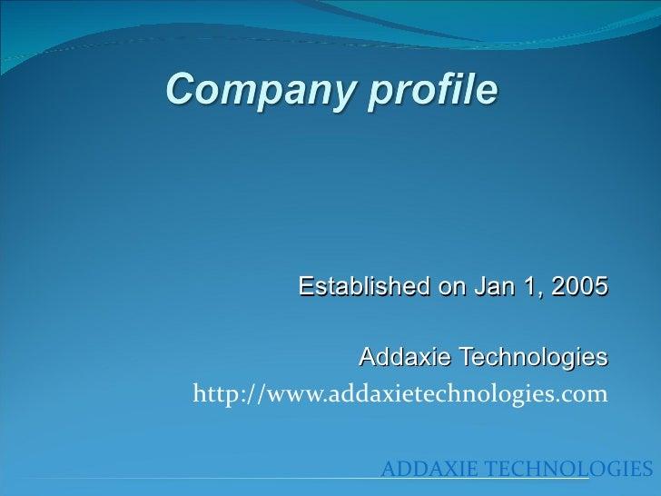 Addaxie Technologies's Intro