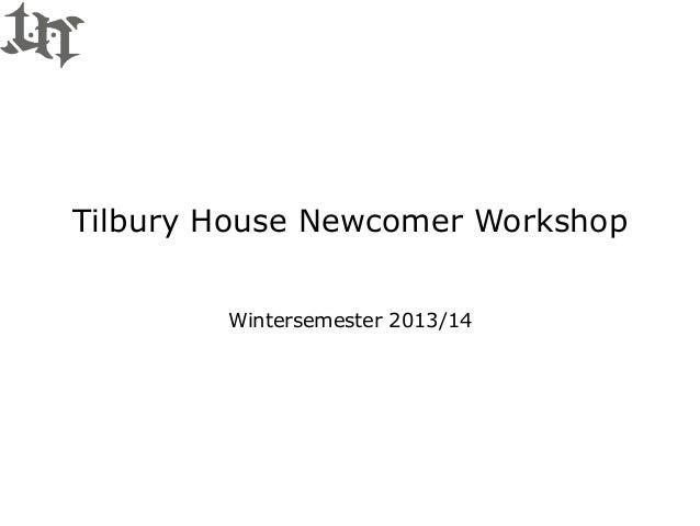 Tilbury House Newcomer Workshop BPS Debating