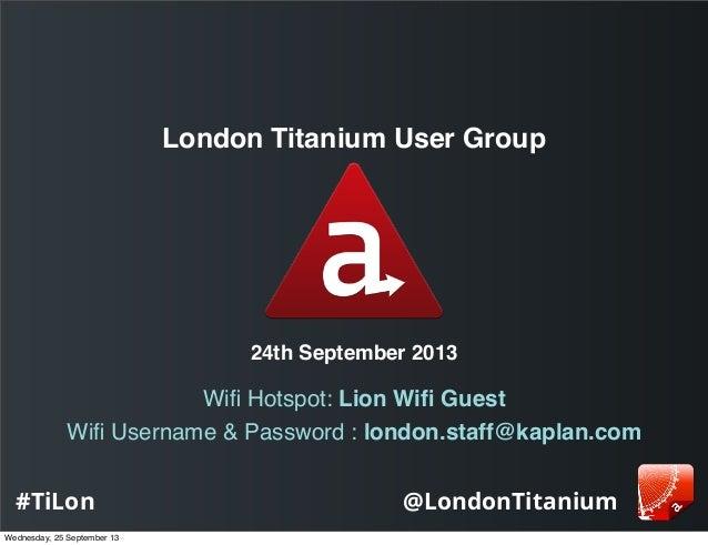 Titanium London - URLs & Alloy vs CommonJS