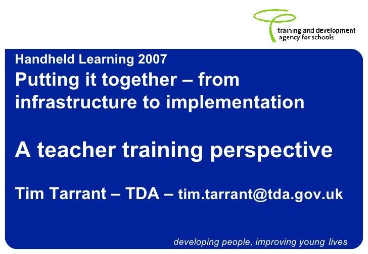 Tim Tarrant, TDA