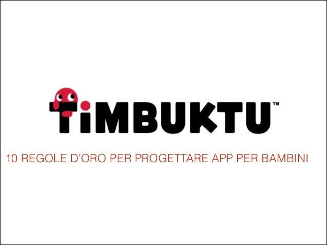 Timbuktu Labs - Startup
