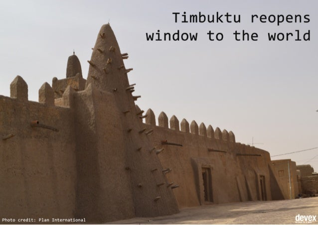 Timbuktu Reopens Window to the World
