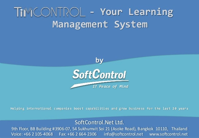 Learning Management System (LMS) - TIMControl