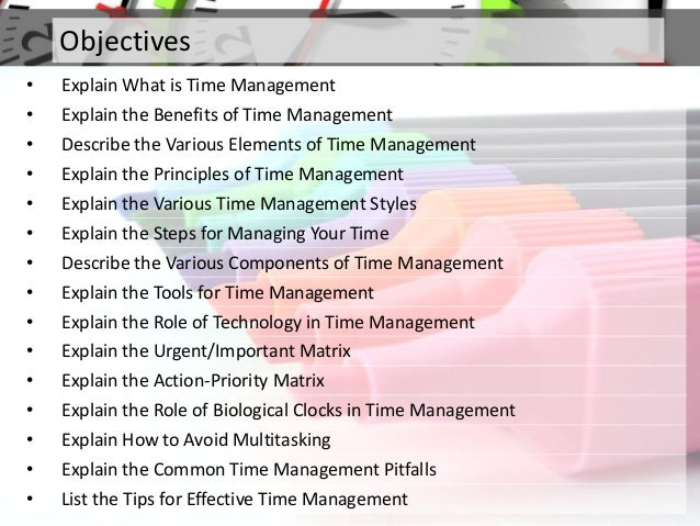 the importance of effective time managements for students Managing time well enables an individual to do the right thing at the right time time management effective time management management students.