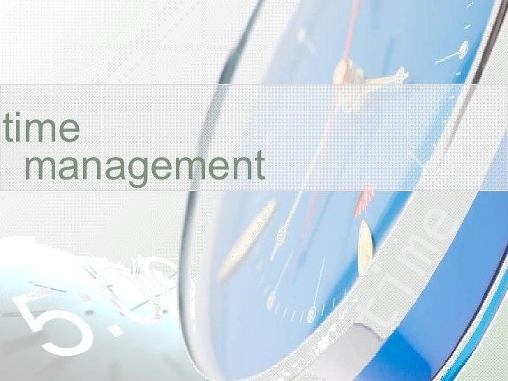 Time Management 7439 4556