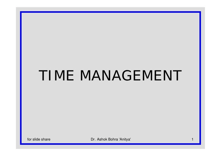 Time Management For Slide Share