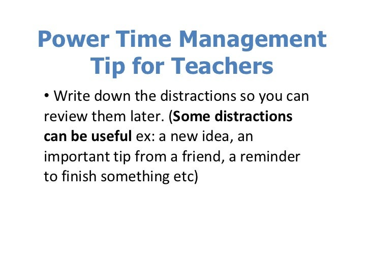 Time managements tips for teachers?