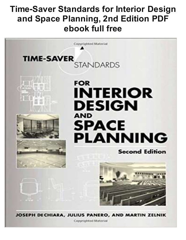 Time Saver Standards For Interior Design And Space