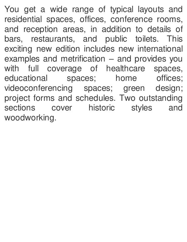 Time saver standards for interior design and space planning, 2nd edit…