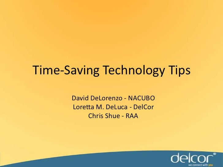 Time saving technology tips
