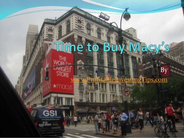 Time to Buy Macys