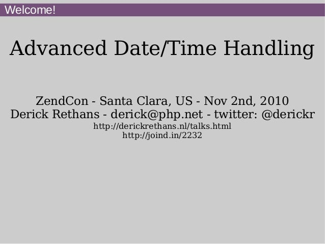 Advanced Date/Time Handling with PHP