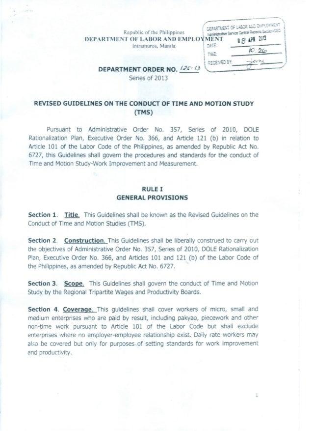 """r ~,..,,..I OV:.,l~""""'"""" • ( r.£FARTM£1(, or LABuf I'l •••.• dte: - .' .• """" ~ Republic of the Philippines  ~dminlstratlVeSaf..."""