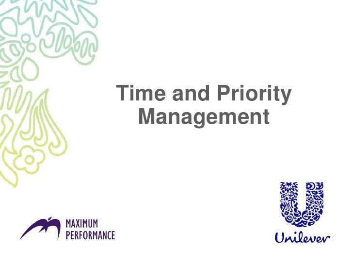 Time and priority management refresh version 0 1 110808 - without notes