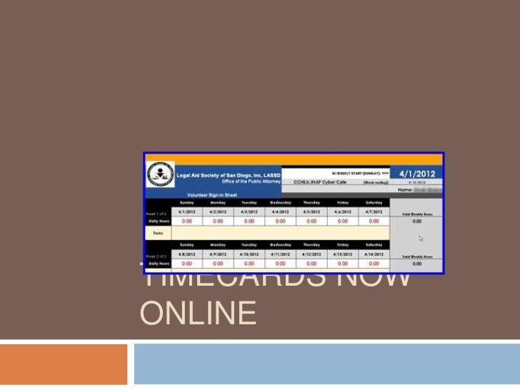 Timecards online