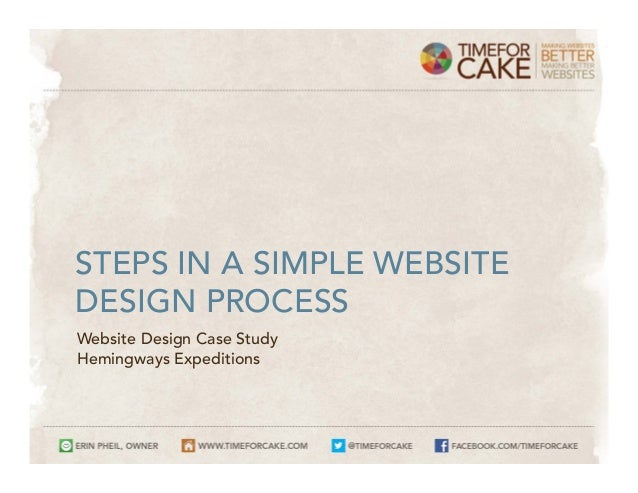 Simple Web Design Case Study (Website Design Process Walkthrough)